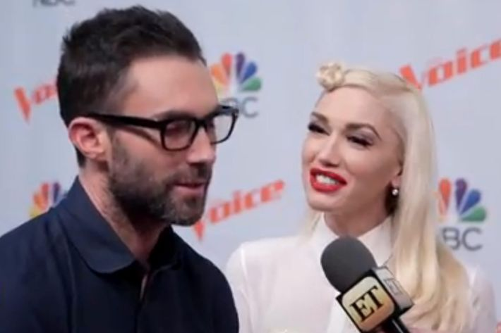 Adam Levine and Gwen Stefani