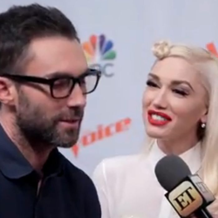 Adam Levine and Gwen Stefani
