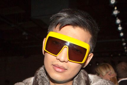 Fashion Blogger Bryan Boy attends the Doo.Ri Fall 2012 fashion show during Mercedes-Benz Fashion Week at the Eyebeam Gallery on February 10, 2012 in New York City.