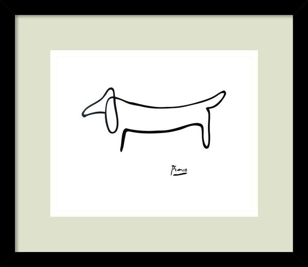 Amanti Art Framed Wall Art Print Le Chien by Pablo Picasso