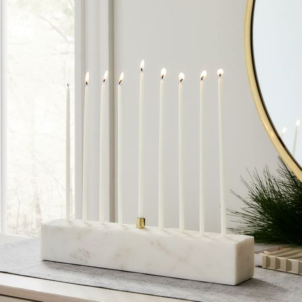 West Elm Marble and Brass Menorah