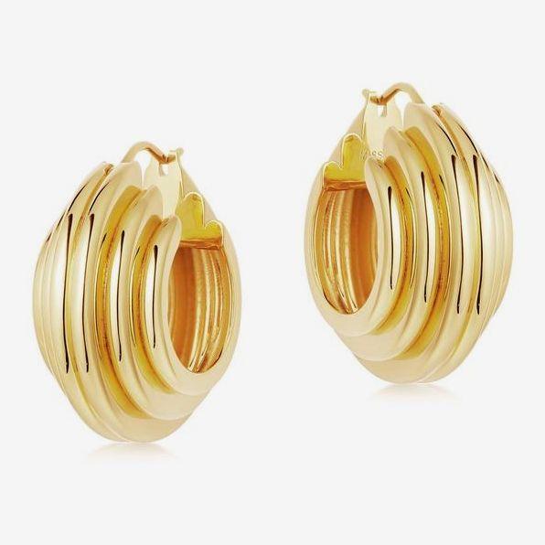 Ridge Hoop Earrings