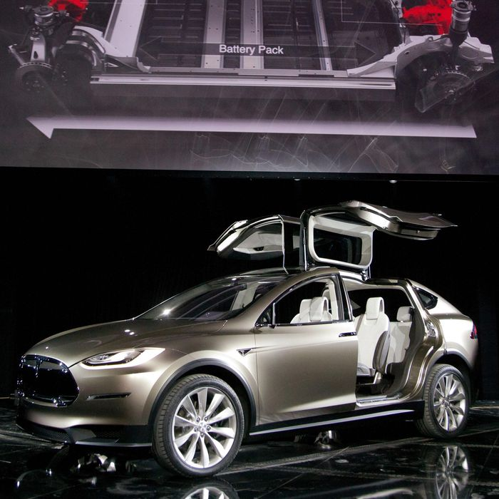 Tesla Motors CEO Elon Musk Unveils Model X