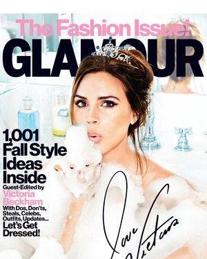 Victoria Beckham for <em>Glamour</em> magazine.