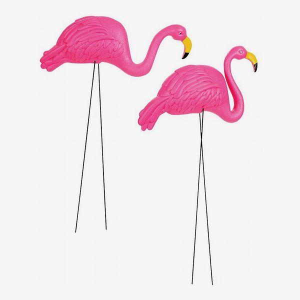 Pink Flamingo Yard Ornament, Pack of 2