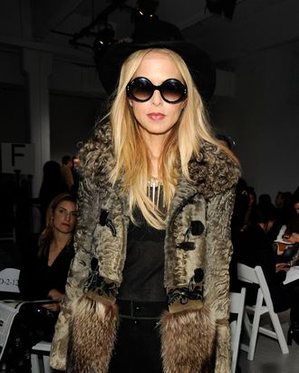 NEW YORK, NY - FEBRUARY 14: Stylist Rachel Zoe attends the Rodarte fall 2012 fashion show during Mercedes-Benz Fashion Week on February 14, 2012 in New York City. (Photo by Rabbani and Solimene Photography/Getty Images)