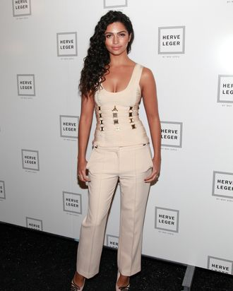 Model Camila Alves attends the Herve Leger by Max Azria Fall 2012 fashion show during Mercedes-Benz Fashion Week at the The Theatre at Lincoln Center on February 11, 2012 in New York City.