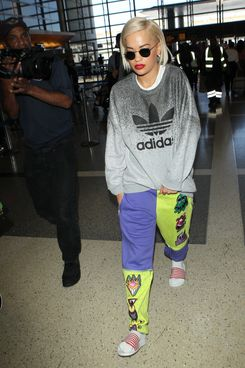 LOS ANGELES, CA - AUGUST 12: Rita Ora seen at LAX on August 12, 2014 in Los Angeles, California.  (Photo by GVK/Bauer-Griffin/GC Images)