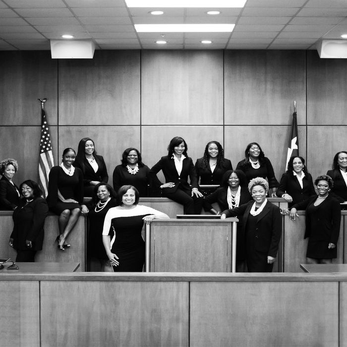 Harris County, Texas's 17 black female judges.