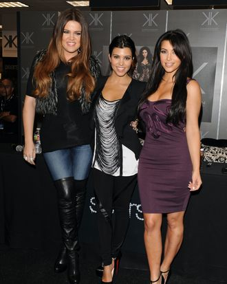 Khloe, Kourtney, and Kim Kardashian