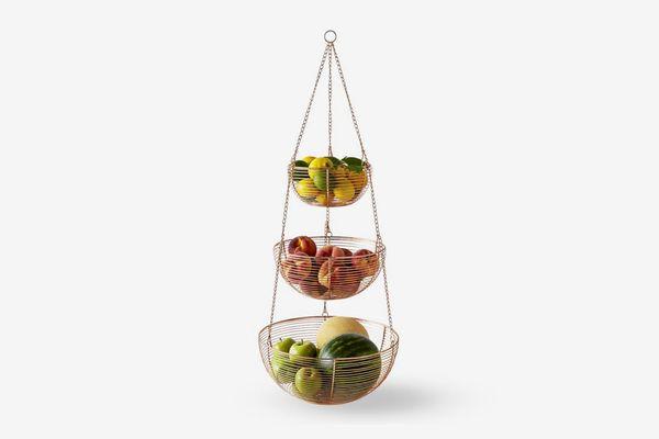 Copper Hanging Wire Fruit Basket