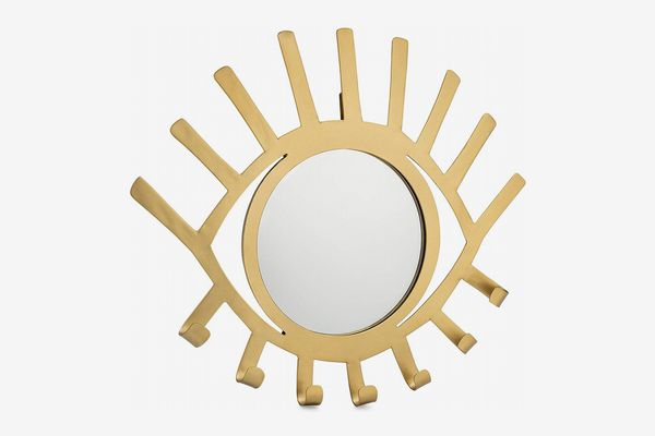 Kimisty Eye Shaped Mirrored Jewelry Holder