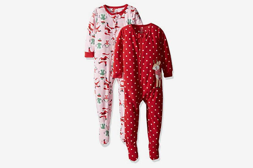 Best Christmas onesies for kids and babies. Carter s Baby Girls  2-Pack  Fleece Pajama Set a80e1a9941ab