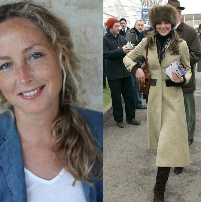 Katherine Hooker, and Kate Middleton wearing Katherine Hooker.