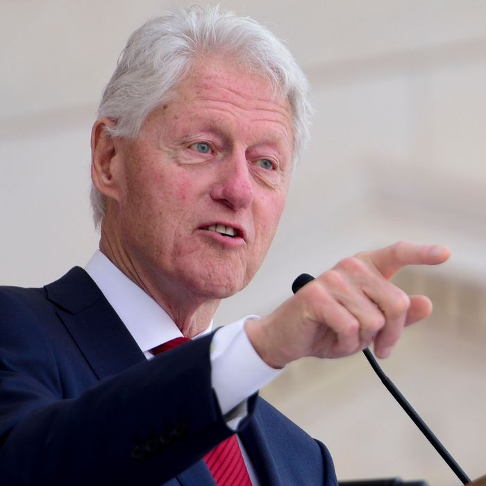 Jeffrey Epstein Had Painting Of Bill Clinton In A Blue Dress