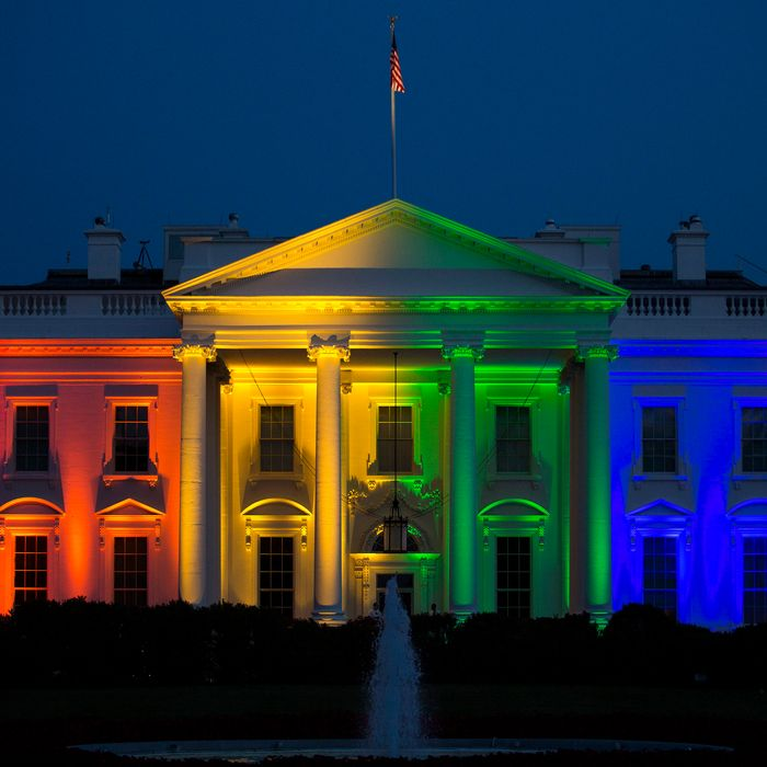 Red, white, and rainbow.