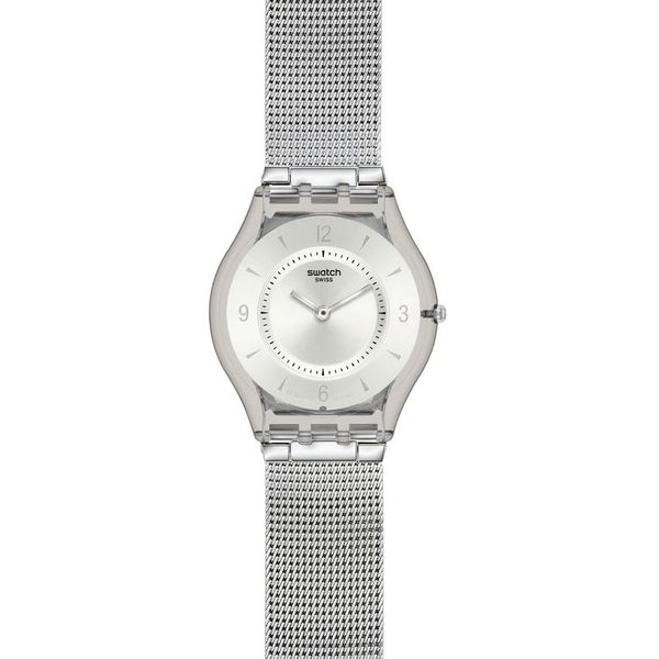 Swatch Classic Skin Watch, Metal Knit