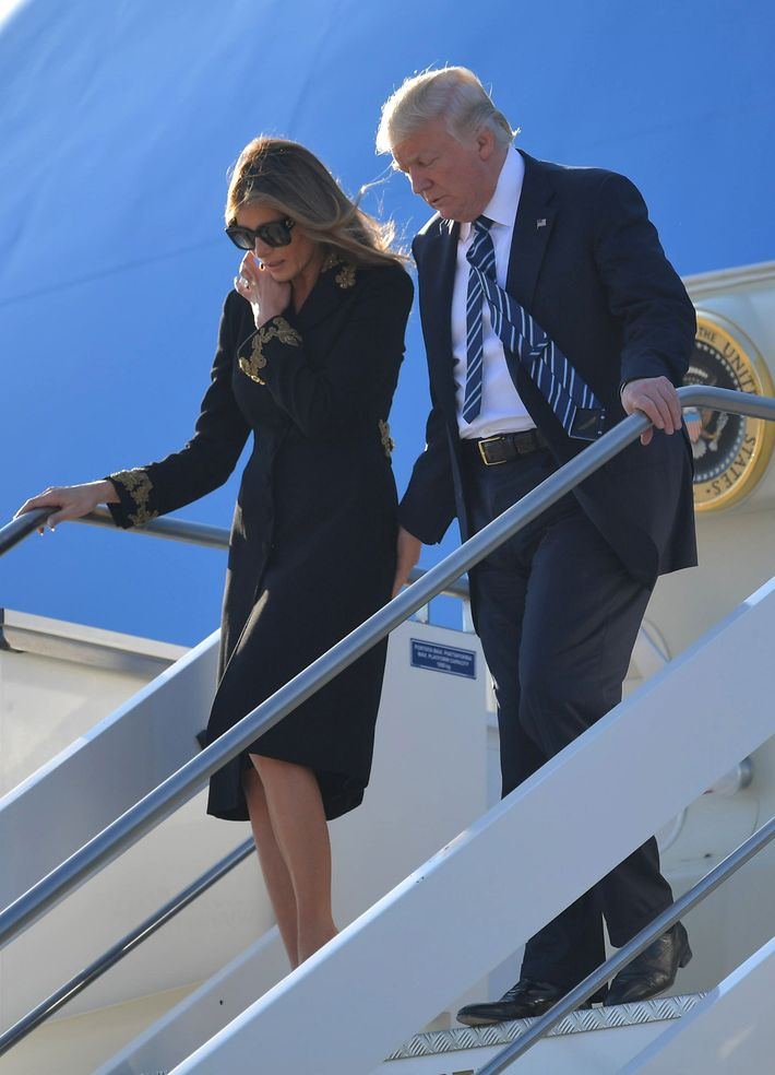Image result for Donald and melania ARRIVE Saudi