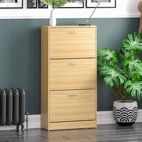 Vida Designs 3 Drawer Shoe Cabinet