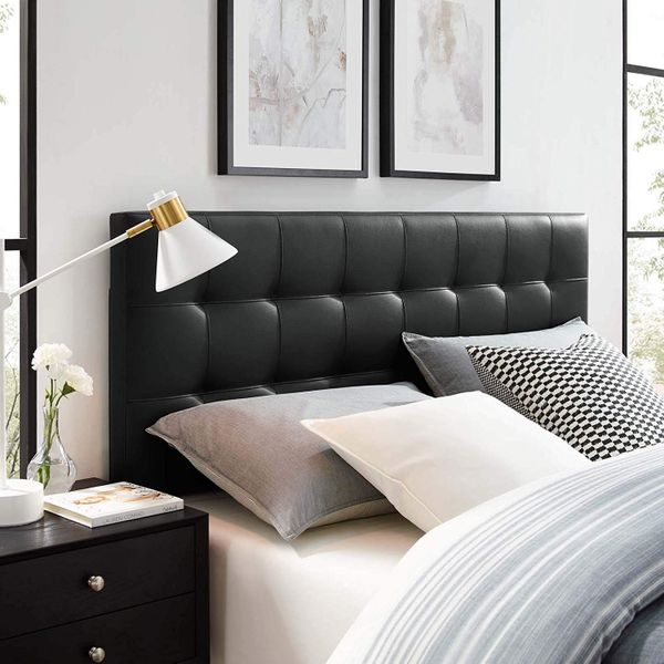 Modway Lily Upholstered Tufted Faux Leather Headboard