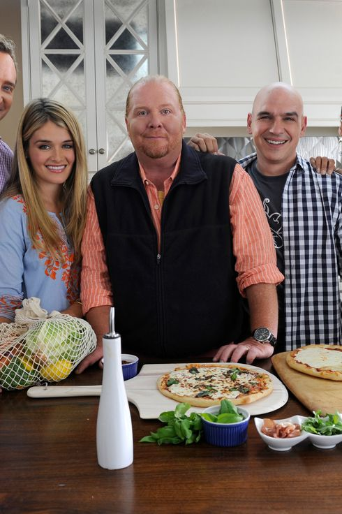THE CHEW - Taping promos in New Jersey, 6/3/11. (ABC/ Ida Mae Astute) CLINTON KELLY, DAPHNE OZ, MARIO BATALI, MICHAEL SYMON, CARLA HALL