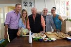 Behind the Scenes at The Chew: Mario Batali Cooks, Clinton Kelly Makes Limp-Zucchini Jokes