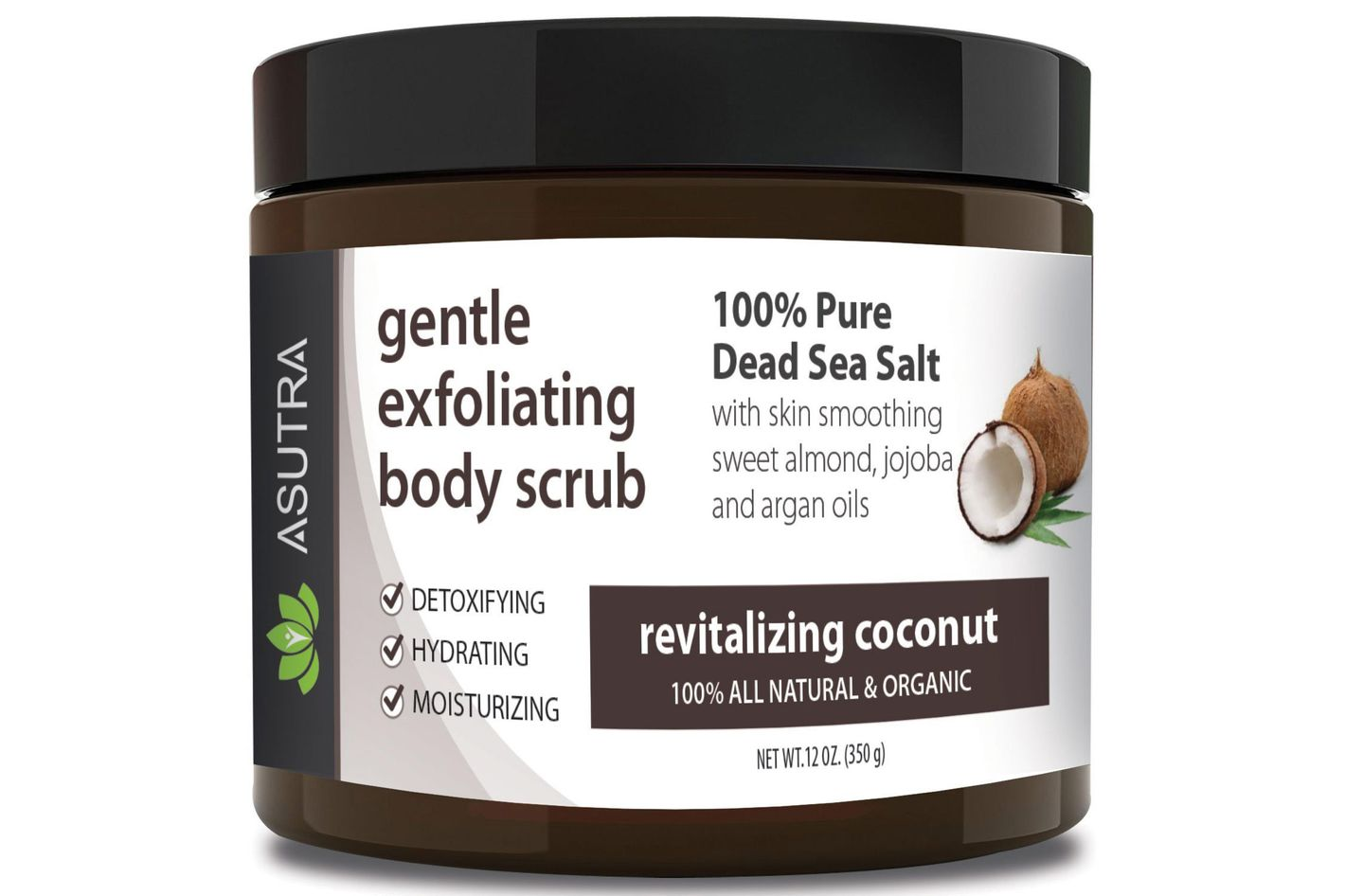 "Asutra Gentle Exfoliating Body Scrub in ""Revitalizing Coconut"""