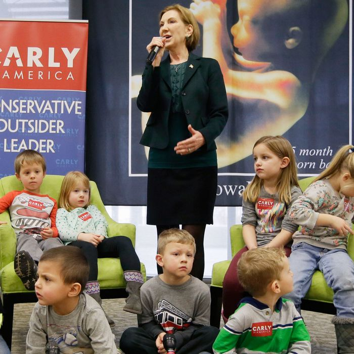 Children, pay no attention to the creepy fetus poster behind you.