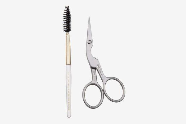 Tweezerman Brow Shaping Scissors and Brush