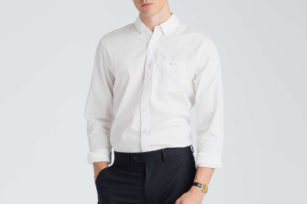 Todd Snyder Slim Fit Poplin Button Down Shirt