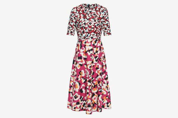 Mary Katrantzou May Printed Stretch-Crepe Midi Dress