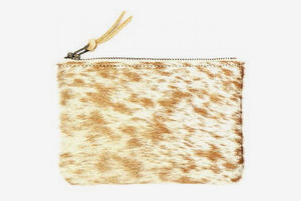 Primecut Caramel Speckled Zipper Wallet
