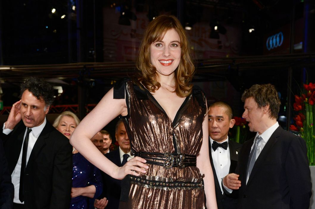 US actress Greta Gerwig attends  'The Grand Budapest Hotel' Premiere and opening ceremony during the 64th Berlinale International Film Festival at Berlinale Palast on February 6, 2014 in Berlin, Germany.
