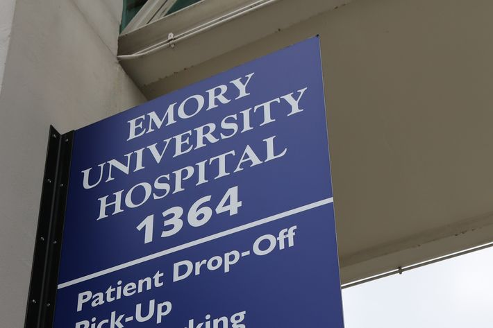 ATLANTA, GA - AUGUST 01: Emory University Hospital is seen on August 1, 2014 in Atlanta, Georgia. Officials with the hospital confirmed that Emory University Hospital will be receiving and treating two American patients diagnosed with Ebola virus. The Ebola infected patients will be transported to Emory University Hospital from Liberia in the next couple of days and receive supportive care in a isolation unit separate from the general hospital. (Photo by Jessica McGowan/Getty Images)