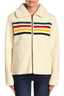 Pendleton Glacier Meadow Faux Shearling Zip Jacket