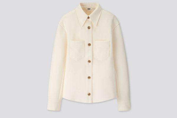 Uniqlo Women U Jersey Double Pocket Long-Sleeve Shirt