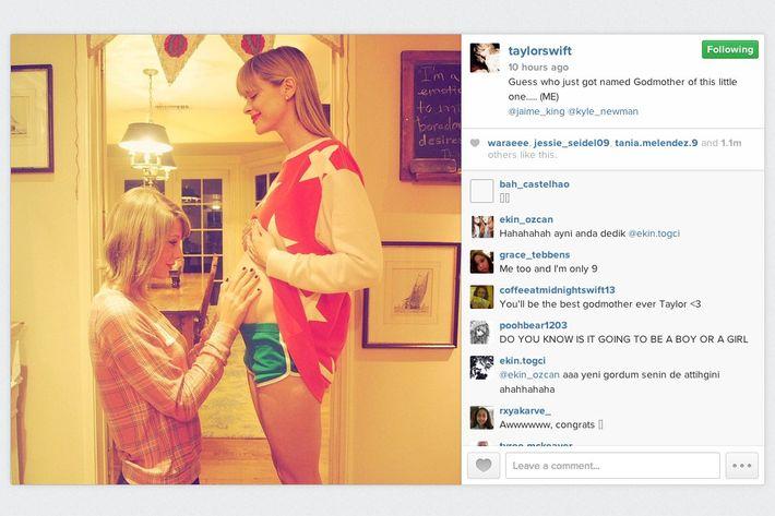 Taylor Swift and Jaime King and upcoming baby.