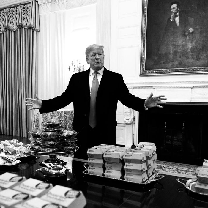 Donald Trump in the White House.