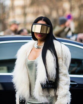 851b14b378 Nicki Minaj has been making the rounds at Paris Fashion Week and