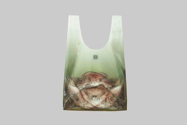 Fish-Print Plastic Bag