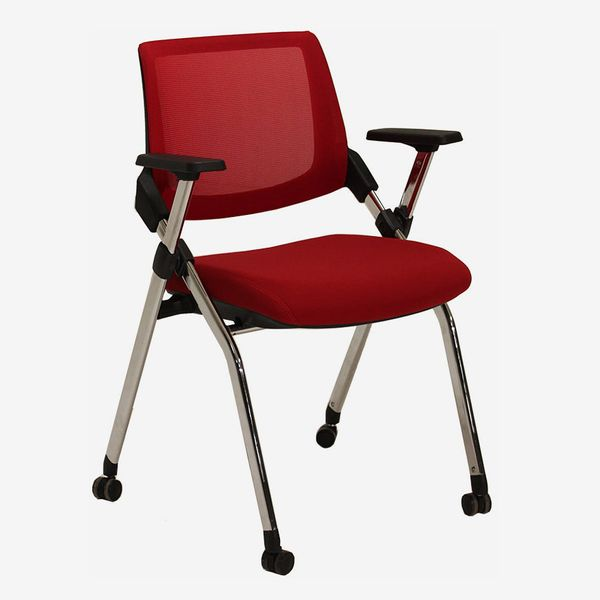 In Stock Chairs Mesh Back Nesting Chair with Flip Seat