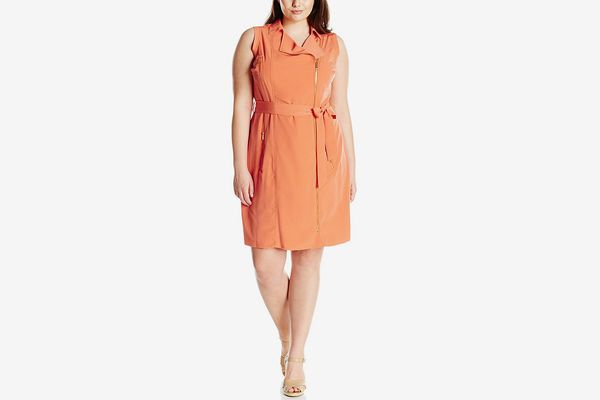Calvin Klein Women's Plus-Size Moto Dress