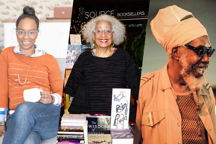 Photos courtesy of Bunnie Hilliard of Brave and Kind Kids Bookshop, Janet Webster Jones of Source Booksellers, and Sekou Tafari of Frontline Books.