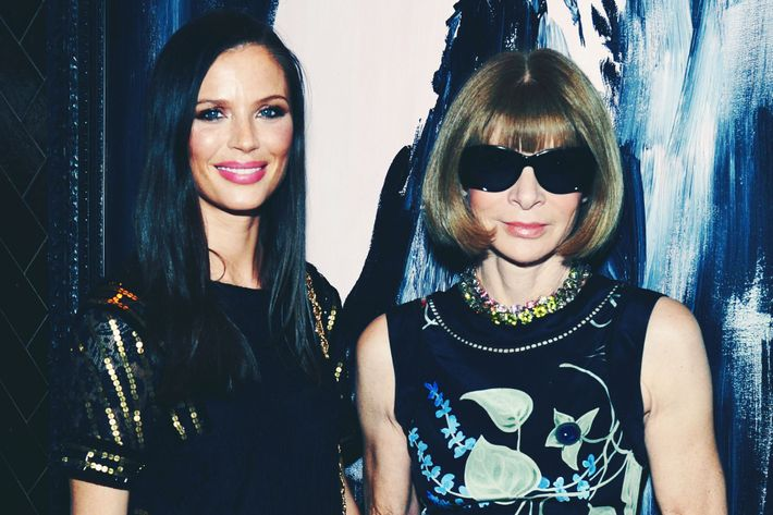 Georgina Chapman and Anna Wintour.