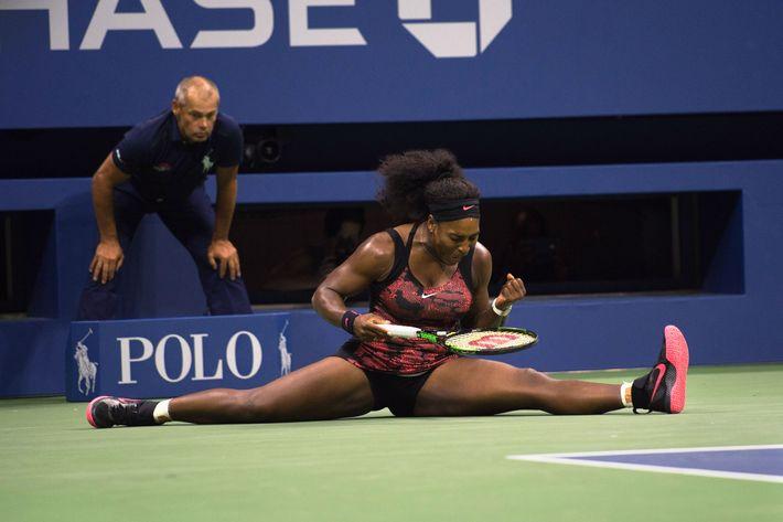 Serena Williams during her third-round U.S Open match on September 4, 2015.