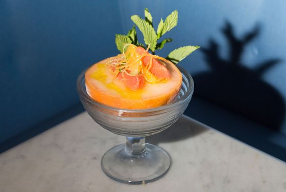 Grapefruit Italian ice.