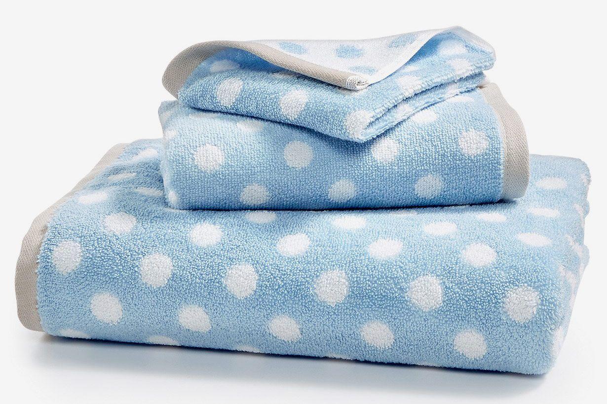 Martha Stewart Cotton Dot Spa Fashion Bath Towel