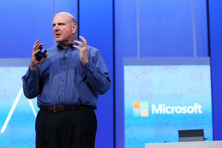Microsoft CEO Steve Ballmer speaks during the keynote address during the Microsoft Build Conference on June 26, 2013 in San Francisco, California.  Microsoft debuted an upgrade to their Windows 8 operating system during the Microsoft Build Conference that runs through June 28.