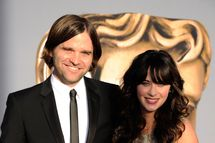 LOS ANGELES, CA - JULY 09:  Musician Ben Gibbard (L) and actress Zooey Deschanel arrive at the BAFTA Brits To Watch event held at the Belasco Theatre on July 9, 2011 in Los Angeles, California.  (Photo by Kevork Djansezian/Getty Images)