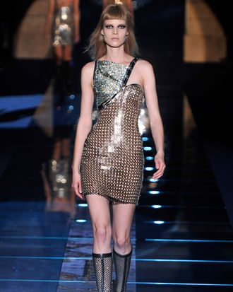 A look from Versace fall 2012